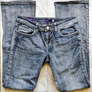 VIGOSS NY Blue Flap Boot Cut Mid Rise Jeans